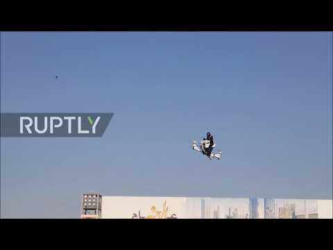 Pigs will fly! Dubai police unveil flying motorbike-drone hybrid