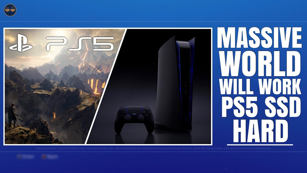 Playstation 5 Ps5 Massive World Will Work Ps5 Ssd Hard