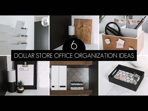 Dollar Store Office Organization & DIY Decor