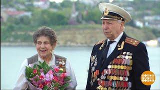 Ника Чукарина и Виктор Исаев. Включение из Севастополя. Праздничный канал.  09.05