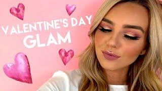 glitter rose gold Valentine's Day makeup tutorial ft. Lex | tarte talk