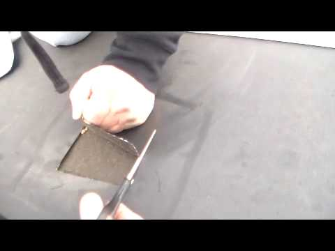 core sample on epdm rubber