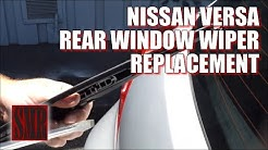 How to replace rear window wiper on a 2007 to 2011 Nissan Versa