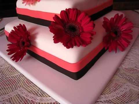 pastel de flores preciosas