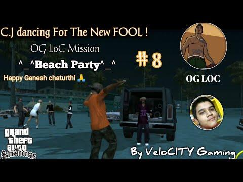 Gone on Beach party ! ( GTA:SA gameplay hindi) Og loc mission # 8 T.J.B
