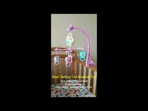 Duckling Cot Musical Mobile/ baby bed music box/ bassinet toys