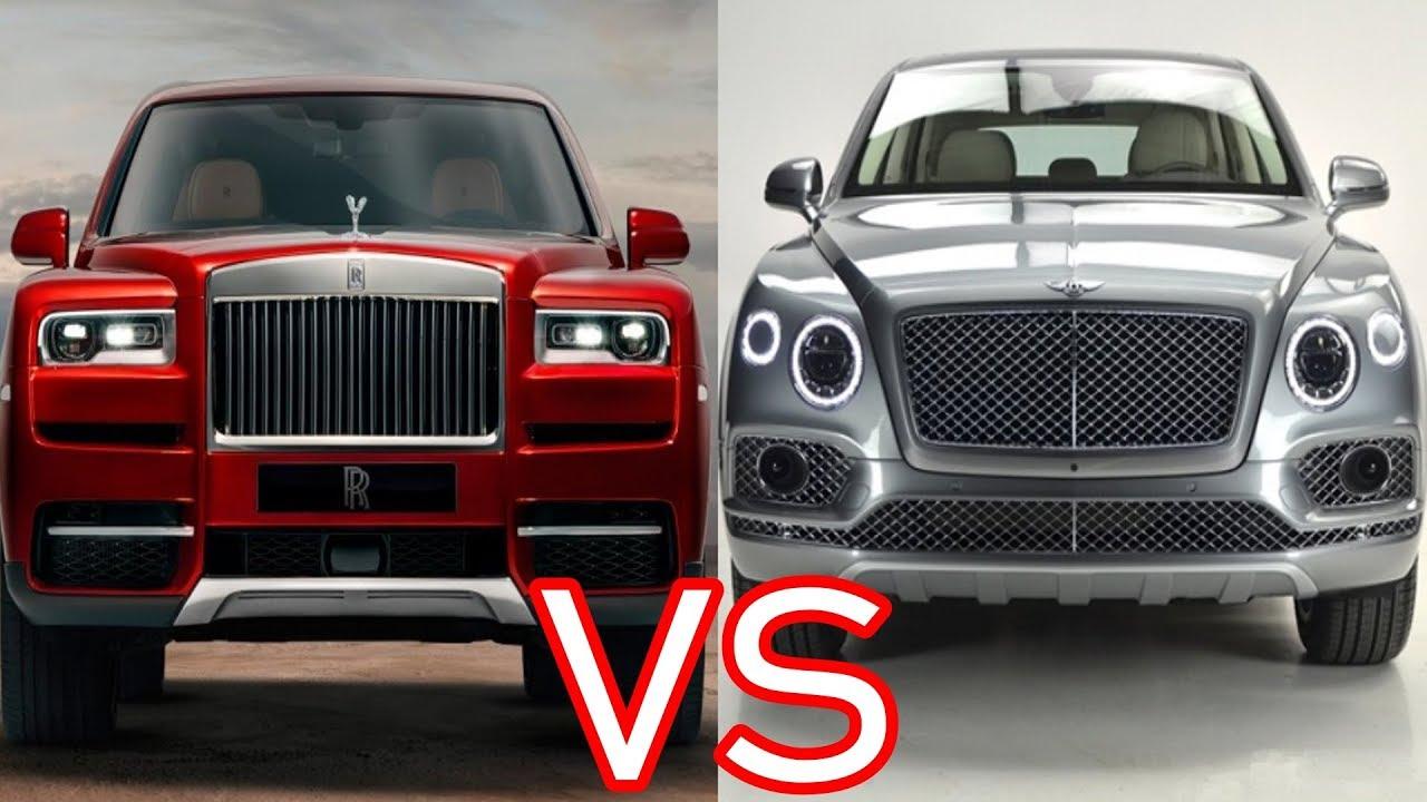 2019 Rolls Royce Cullinan Vs 2019 Bentley Bentayga Mulliner Youtube