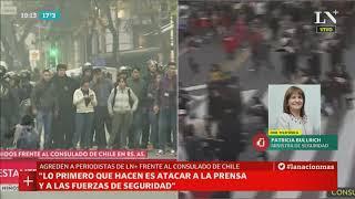 Patricia Bullrich habla por los violentos disturbios en el consulado de Chile
