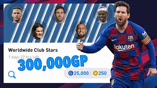 300,000GP Worldwide Club Stars Box Draw Opening - Pes 2020 Mobile
