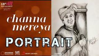 Channa mereya Ranbir Kapoor portrait drawing  | Ae dil hai mushkil