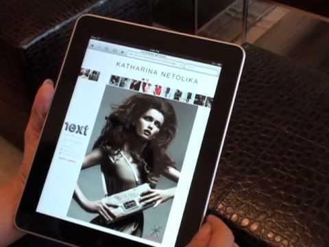 Model Portfolio on iPad by Next Company Modelmanagement
