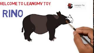How to draw rhino, Drawing a rhino, how to paint rhino, coloring page for kids