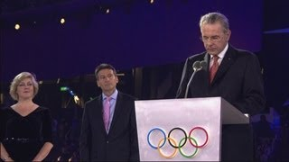 Sebastian Coe & Jacques Rogge Closing Ceremony Speech - London 2012 Olympics