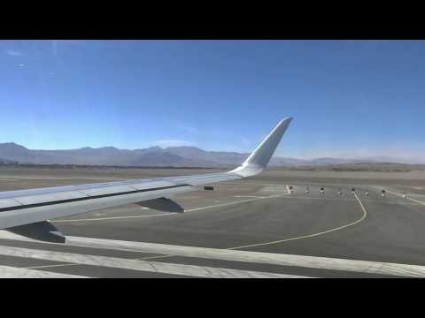 Amazing aerial view from Calama to Santiago airport in Chile
