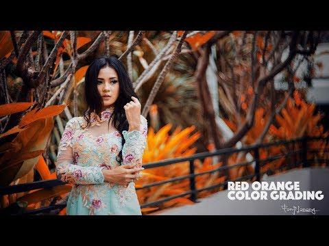 Cinematic Soft Red Orange Color Grading Photoshop Tutorial thumbnail