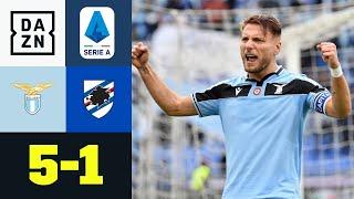 Immobile-Hattrick hält Lazio im Meisterschaftsrennen: Lazio Rom - Sampdoria 5:1 | Serie A | DAZN