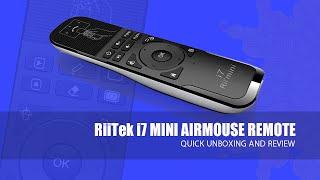 RiiTek Rii i7 Mini AirMouse Remote - Review