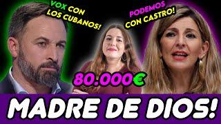 VOX APOYA A LOS CUBANOS, Y UNA PODEMITA SE SIENTE DISCRIMINADA COBRANDO 80.000 EUROS! 😱