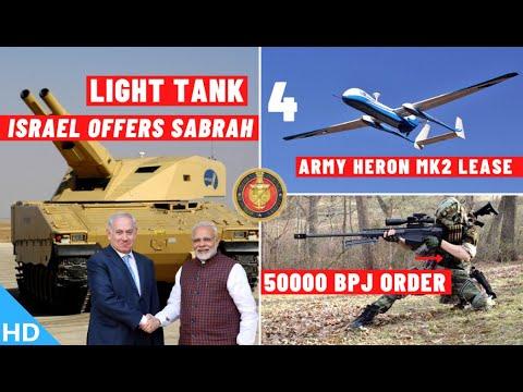 Indian Defence Updates : Israel Offers SABRAH Tank,50000 BPJ Order,4 Heron MK2 Lease,A-400M For IAF?