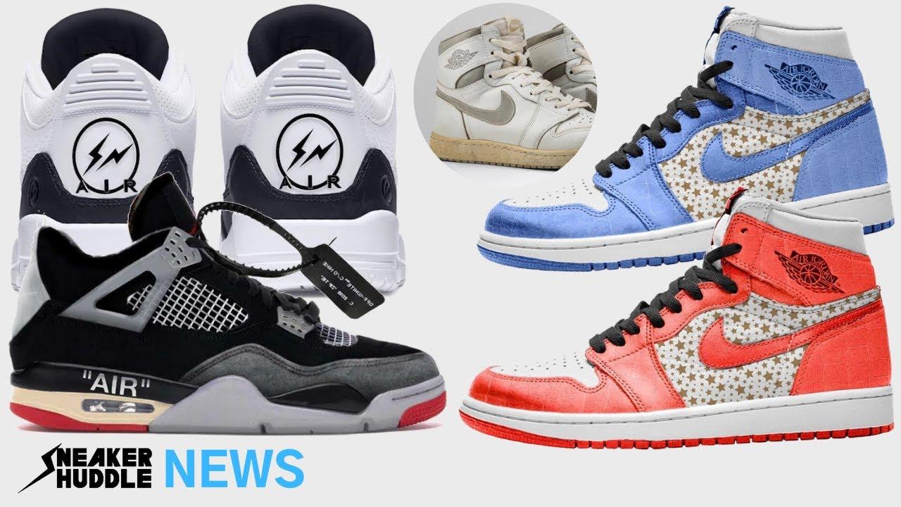 Off White Jordan 4 'Bred' | Supreme Air Jordan 1 | Fragment Jordan 3 | SNEAKER HUDDLE NEWS