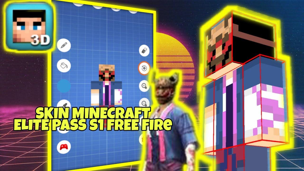 TUTORIAL MEMBUAT SKIN MINECRAFT FREE FIRE SEASON 12 - YouTube