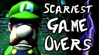 SCARIEST GAME OVER SCREENS in Nintendo Games! (Wii U, GC, N64, SNES)