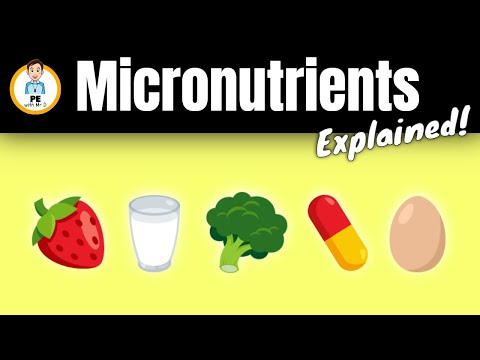 Learn the Micronutrients! Vitamins and minerals explained | PE Buddy