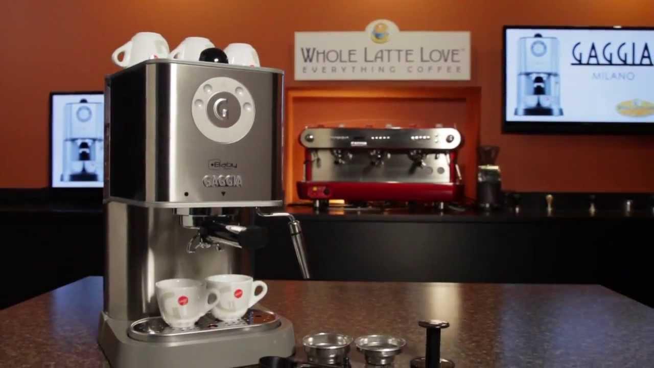 gaggia baby twin espresso machine overview youtube. Black Bedroom Furniture Sets. Home Design Ideas