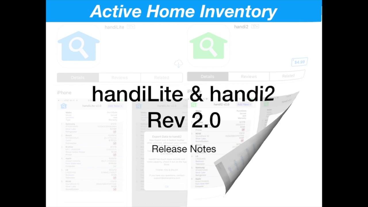 Launch of handi2 Active Home Inventory iOS App
