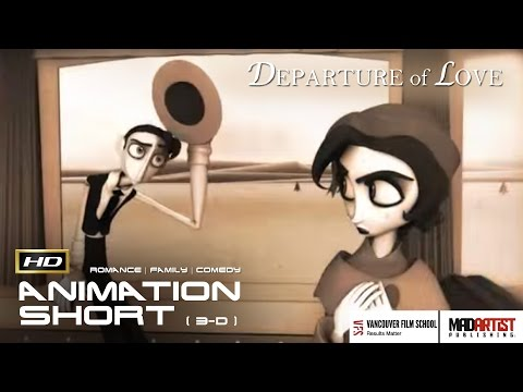 Cgi 3d Animated Short Film Departure Of Love Funny Vintage Love Story By Jennifer Bors Ringling Youtube