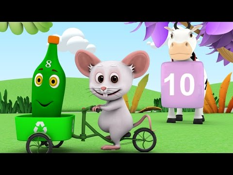 Ten Green Bottles | Nursery Rhymes Collection | Baby Songs | Kindergarten Kids Animation Songs