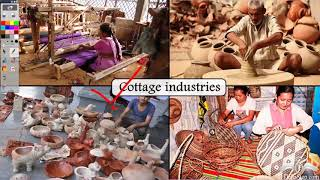 Types of industries - cottage, small scale and large scale