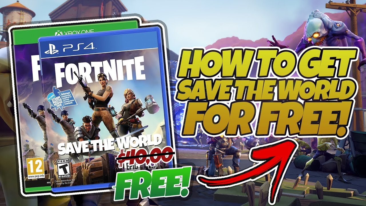 how to get fortnite save the world for free pc xbox ps4 working 2018 - fortnite save the world for free pc