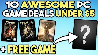 10 AWESOME STEAM PC GAME DEALS UNDER $5 AND GET A FREE PC GAME RIGHT NOW!