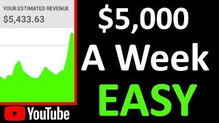 How to Make Money on YouTube Without Making Videos ($5K a Week)