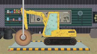 Excavator Car wash Video for kids and babies