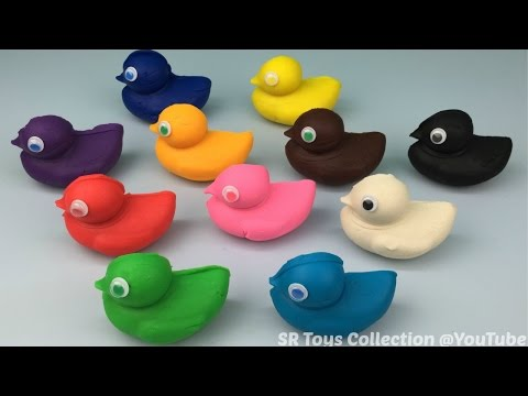 Play and Learn Colours with Playdough Ducks Fun for Kids