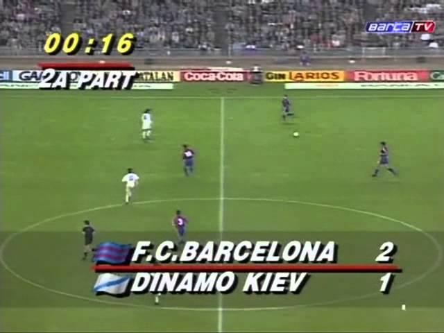 Barselona Dinamo Kiev 4 1 Lch 1993 94 Polnyj Match Youtube