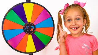 Майя играет в Челлендж с разноцветной едой | Детские песни от Майи и Маши