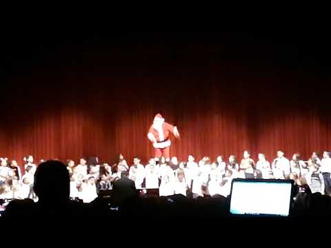 Elianna's Christmas chorus for thiells elementary school at field stone big surprise from Santa