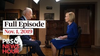 PBS NewsHour live episode November 1, 2019