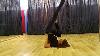 Видео-урок: простой кувырок (pole-dance, стрип-пластика) Марина Эргле