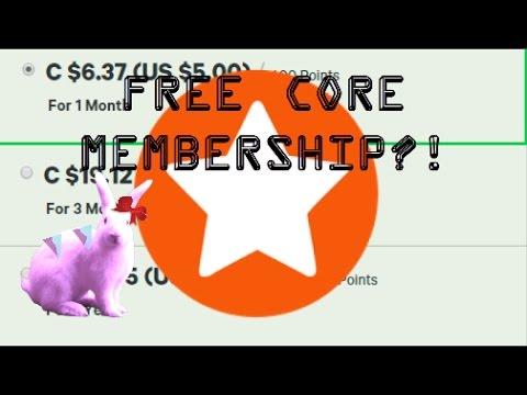 HOW TO GET FREE CORE MEMBERSHIP?! - YouTube