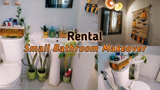 Small Rental Bathroom Makeover|| Smart & Clever organisation and Storage Ideas within Budget
