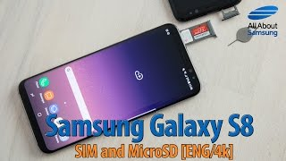 Samsung Galaxy S8 How to use MicroSD and SIM card ENG 4k