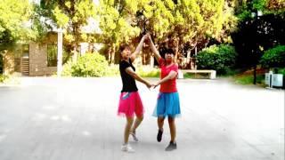 金盛小莉广场舞 朋友的心 双人对跳