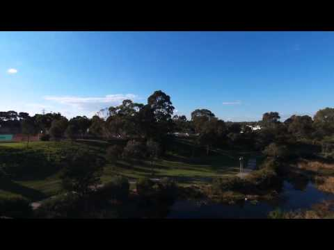 Parrot Bebop Drone over Edwards park lake Melbourne