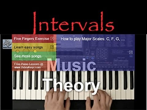 MUSIC THEORY LESSON - Learn Intervals: Whole Step and Half Step