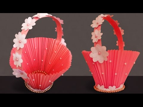 Diy Paper Basket How To Make Easy Accordion Paper Basket For