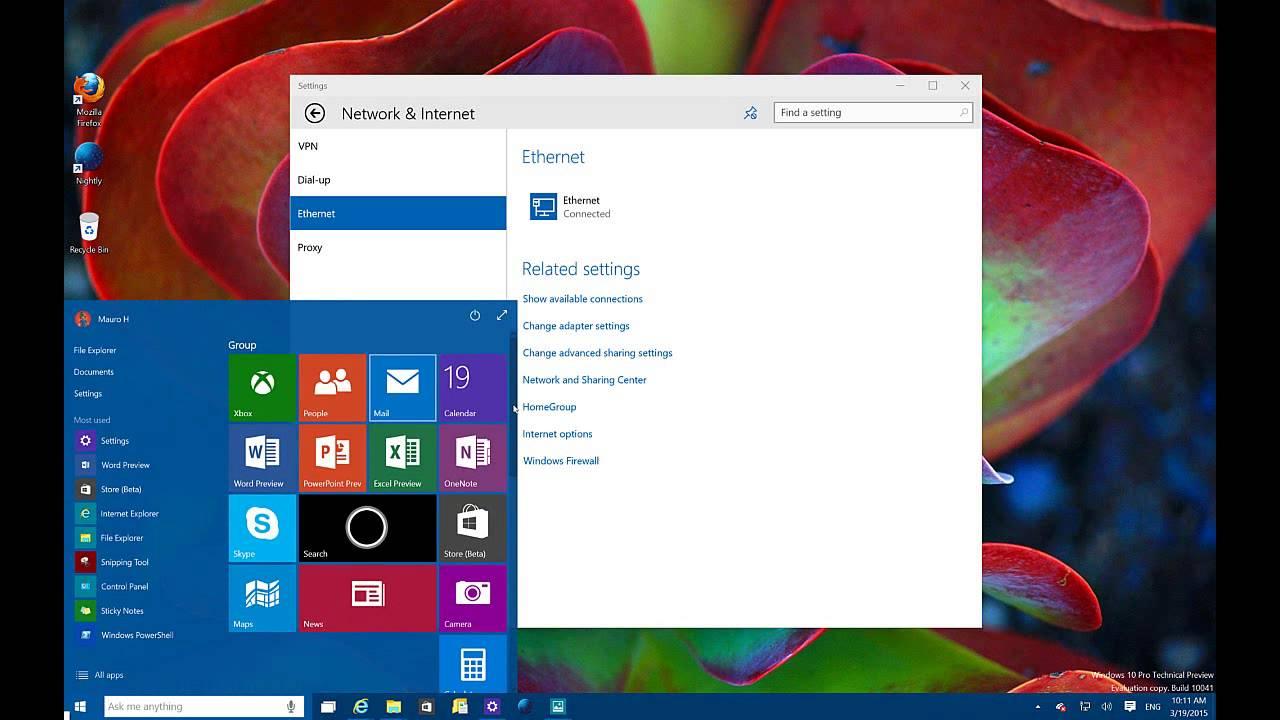 Technology Management Image: Windows 10 Build 10041: Start Menu, Task View + New